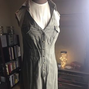 Guess Size 3 Halter Army Style Dress